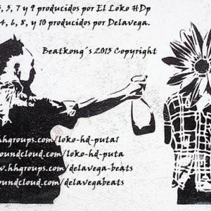 Trasera: El loko HD puta y Delavega - Beatkong´s (Instrumentales)