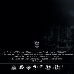 Trasera: El oficio nocturno - Constancia