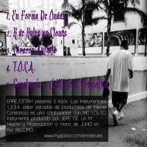 Trasera: Errejottah - T.O.C.A. La mixtape