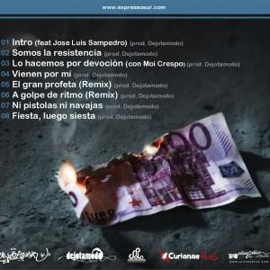 Trasera: Expresso sur - Sin billetes, ni grilletes...
