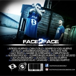 Trasera: Facetwoface - Cara o cruz