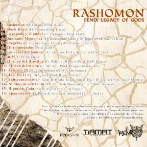 Trasera: Fénix legacy of gods - Rashomon