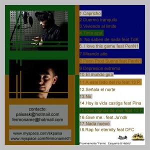 Trasera: Fermo y Paisa - Capricho mixtape