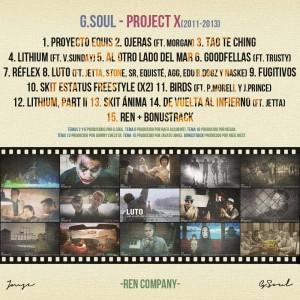 Trasera: G. Soul - Project X (2011 - 2013)