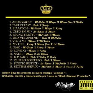 Trasera: Golden Boyz - Volumen 1