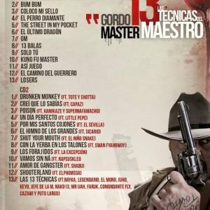 Trasera: Gordo Master - Las 13 técnicas del maestro