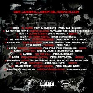 Trasera: Guerrilla Republik España - Preludio mixtape