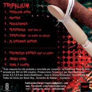 Trasera: Hablando claro - Tripalium