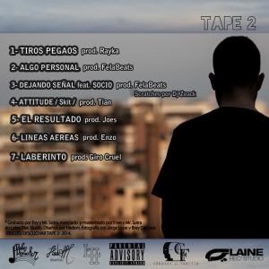 Trasera: Hadem - Dulces descuchar - Tape 2