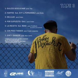 Trasera: Hadem - Dulces descuchar - Tape 3