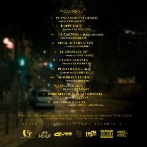 Trasera: Hadem - Lost tape Volumen 1