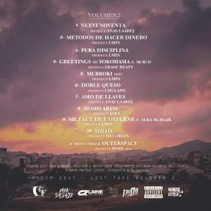 Trasera: Hadem - Lost tape Volumen 2