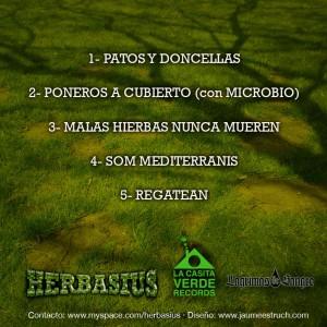 Trasera: Herbasius - Malas hierbas nunca mueren