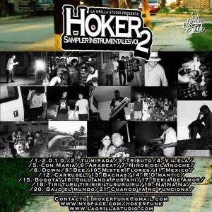 Trasera: Hoker - Sampler instrumentales Vol.2