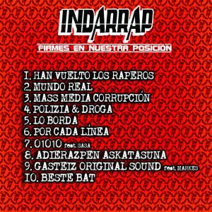 Trasera: Indarrap - Firmes en nuestra posición