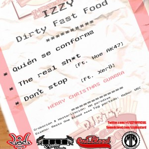Trasera: Izzy - Dirty fast food diciembre