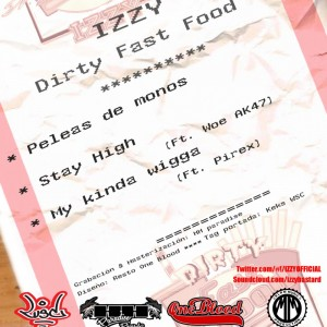 Trasera: Izzy - Dirty fast food febrero