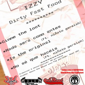 Trasera: Izzy - Dirty fast food septiembre