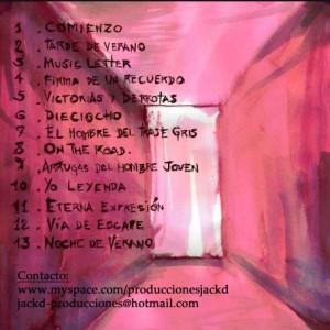 Trasera: Jackd producciones - Via de escape (Instrumentales)