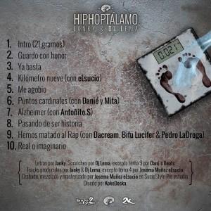 Trasera: Janky y Dj Lema - Hiphoptálamo