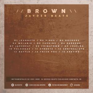 Trasera: Jayder - Brown (Instrumentales)