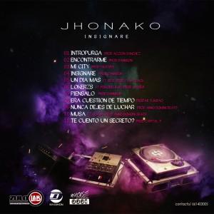 Trasera: Jhonako - Insignare