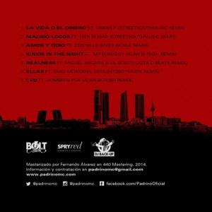 Trasera: Juan Padrino y Dj Back-Up - Madrid finest - The remixtape