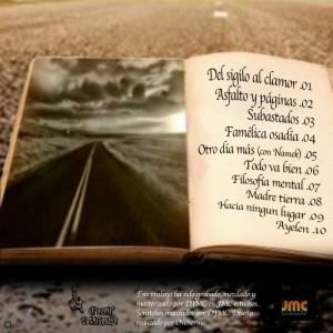 Trasera: Juan Sinaka - Asfalto y páginas