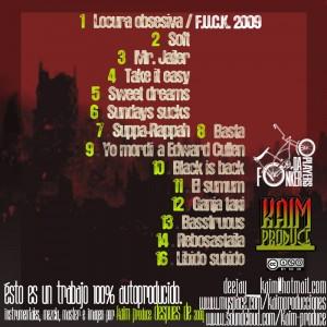 Trasera: Kaim produce - El después de (Instrumentales)