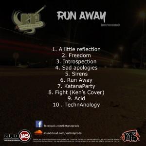 Trasera: Katanaprods - Run away (Instrumentales)