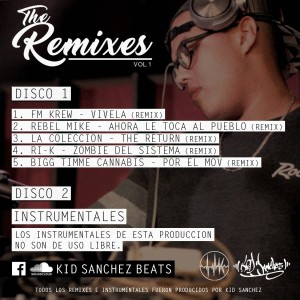 Trasera: Kid Sanchez - The Remixes Vol. 1 (Instrumentales) (Disc 2)