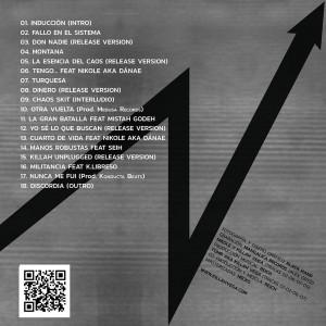 Trasera: Killah Vega - La esencia del caos LP