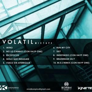 Trasera: Kine Teka y Hayp One - Volatil mixtape