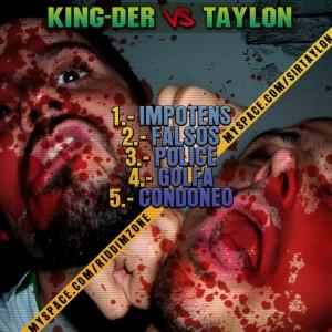 Trasera: King-Der y Taylon - Kingder vs. Taylon
