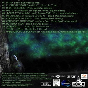 Trasera: L-Manda - Poesía tóxica