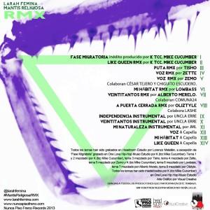 Trasera: Larah Fémina - Mantis religiosa RMX