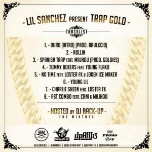 Trasera: Lil Sánchez y Dj Back-Up - Trap gold