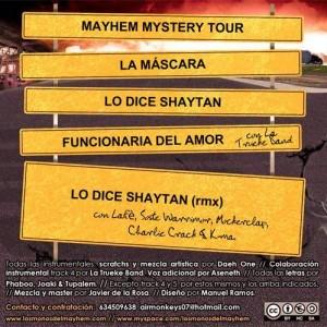 Trasera: Los monos del mayhem - Mayhem mystery tour