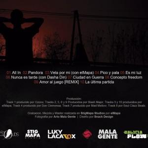 Trasera: Luky Lacatox - Amor al juego