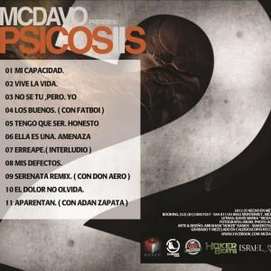Trasera: MC Davo - Psicosis 2