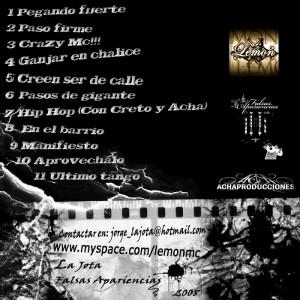 Trasera: MC Lemon aka Doctor la rima - Pegando Fuerte (Mixtape)