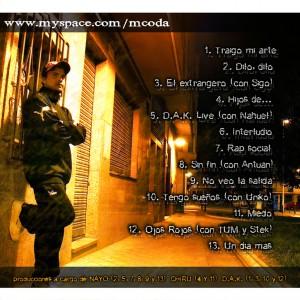 Trasera: MC Oda - Traigo mi arte