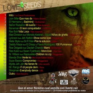 Trasera: MS Estudio - Love seeds mixtape vol. 1