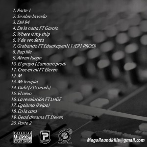 Trasera: Mago - Rap life the mixtape