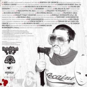 Trasera: Mejishon The Thug - White trash B sides