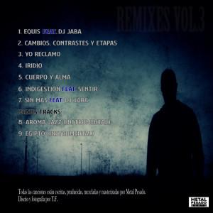 Trasera: Metal Pesado - Remixes Vol.3