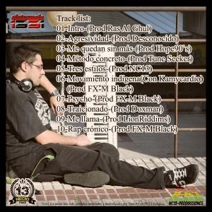 Trasera: Necio13 - Rap crónico