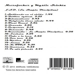 Trasera: Necrojocker y Mystic Selekta - L.S.D