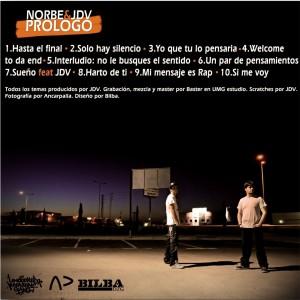 Trasera: Norbe y JDV - Prologo