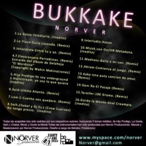 Trasera: Norver Producciones - Bukkake